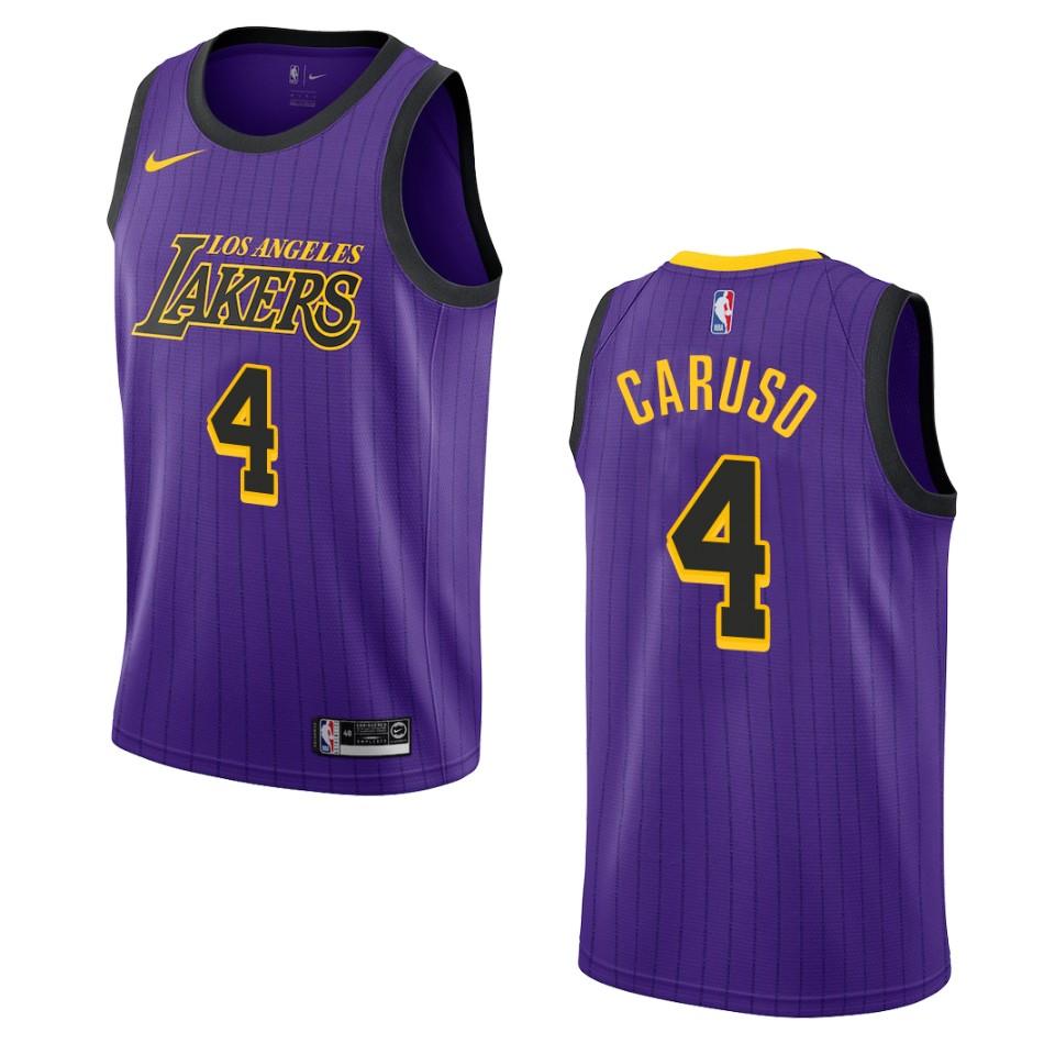 2019-20 Men Los Angeles Lakers #4 Alex Caruso City Edition ...