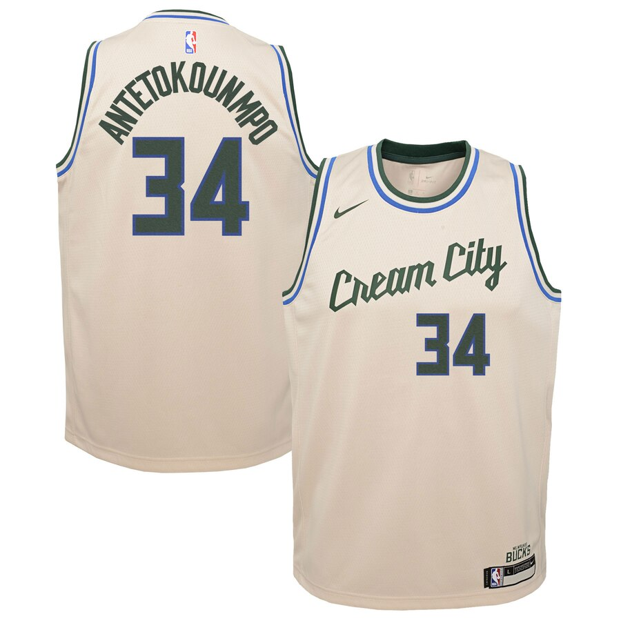 Giannis Antetokounmpo Milwaukee Bucks Nike Youth Swingman ...