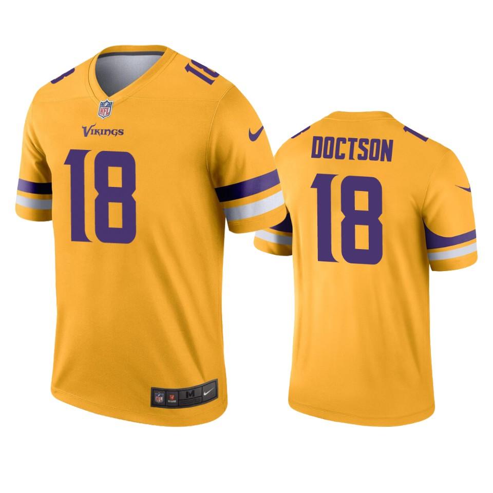 Minnesota Vikings Josh Doctson Gold Inverted Legend Jersey ...