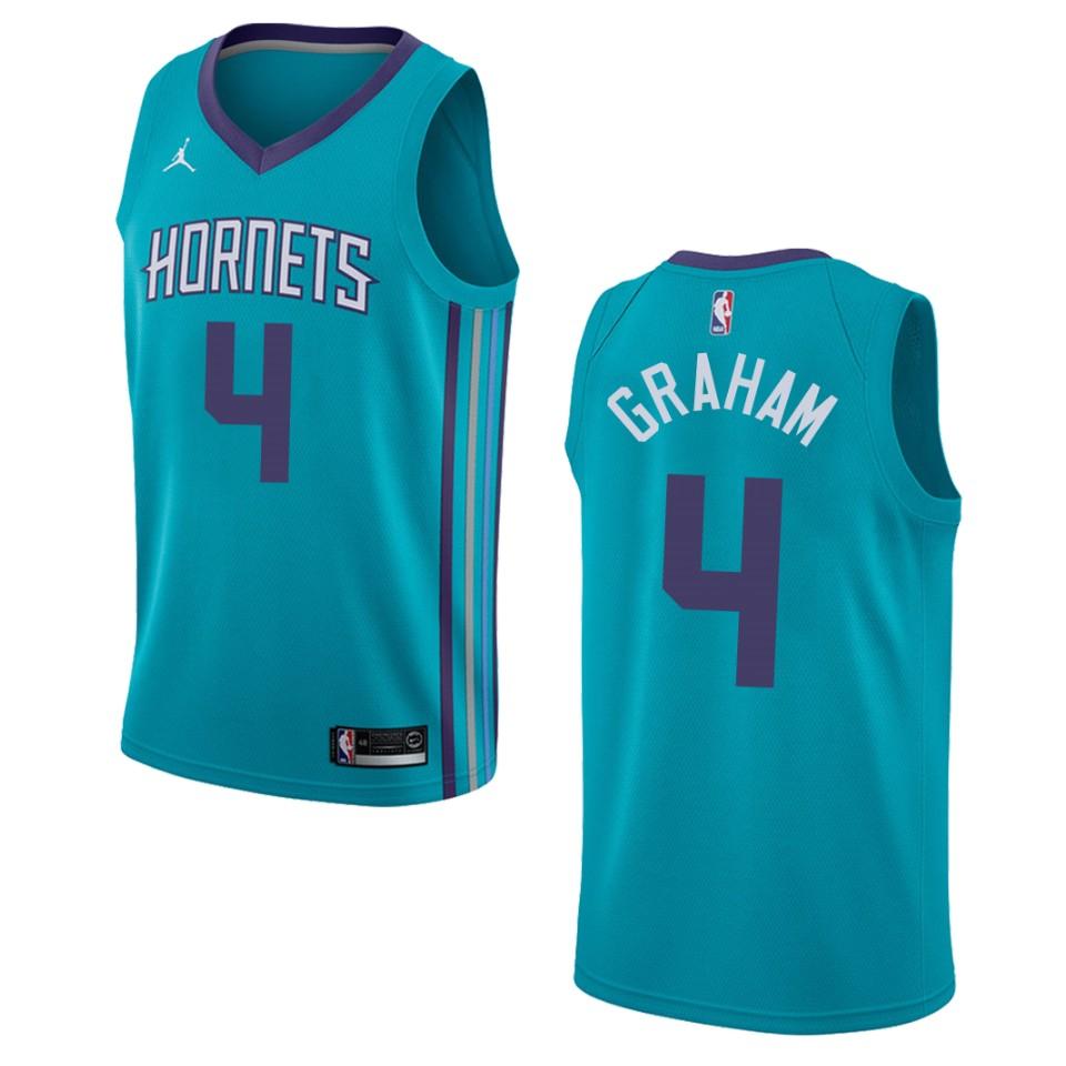 Men's Charlotte Hornets #4 Devonte' Graham Icon Swingman Jersey ...