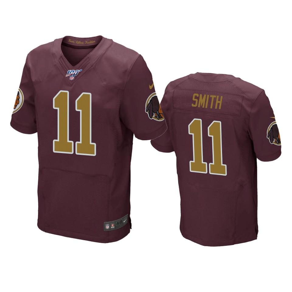 Washington Redskins Alex Smith Burgundy 100th Season Throwback ...