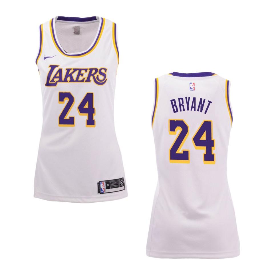 Women's Los Angeles Lakers #24 Kobe Bryant Association Swingman ...