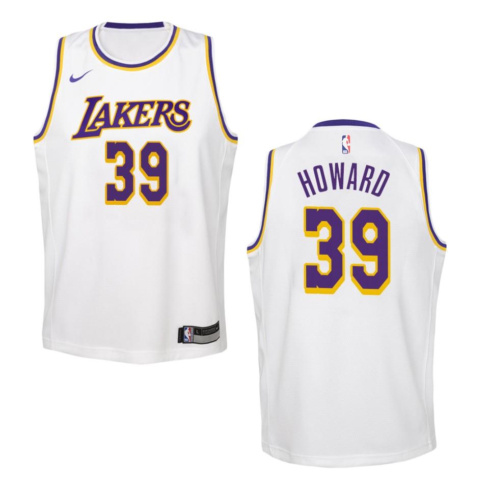 Youth Los Angeles Lakers #39 Dwight Howard Association Swingman ...