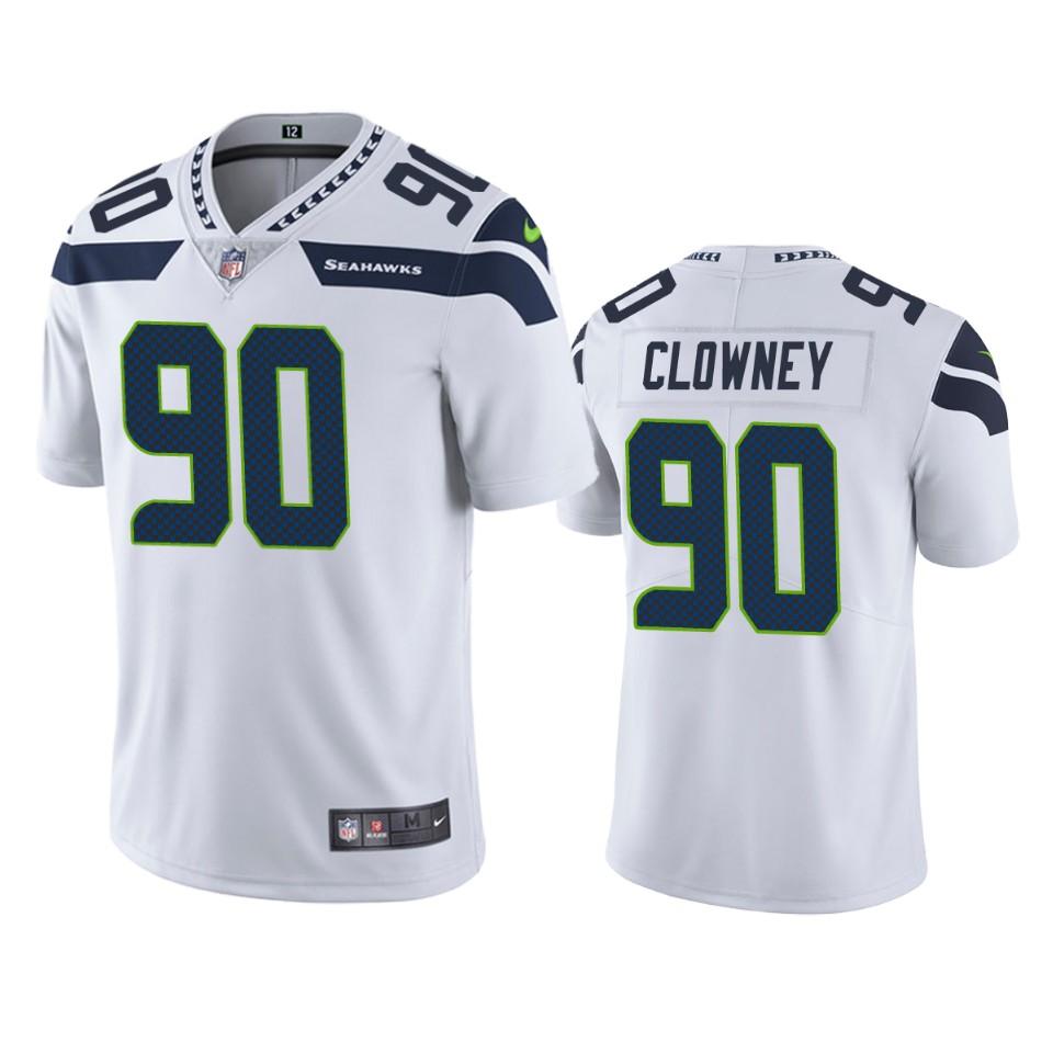 Jadeveon Clowney Seattle Seahawks White Vapor Limited Jersey ...