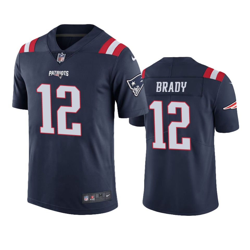 New England Patriots Tom Brady Navy Nike Color Rush Limited jersey ...