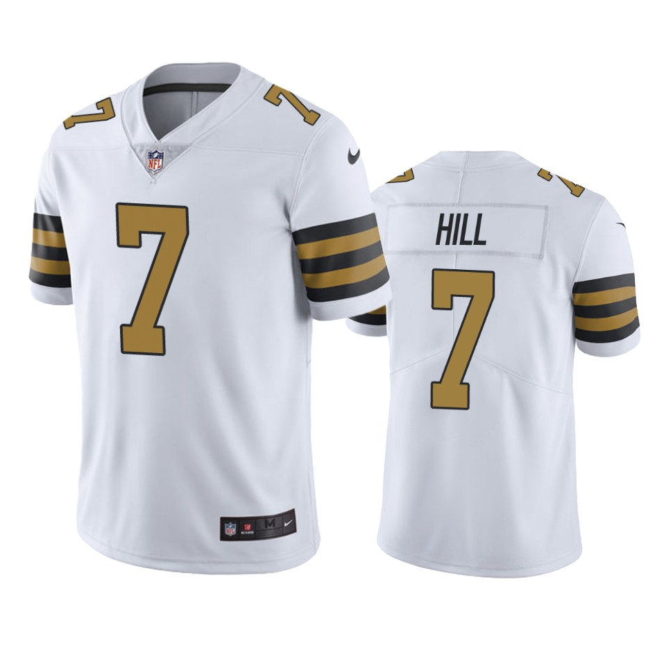 New Orleans Saints Taysom Hill White Nike Color Rush Limited ...