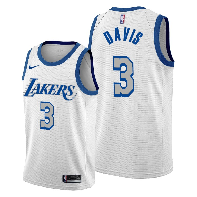 Anthony Davis Los Angeles Lakers White City Edition New Blue ...
