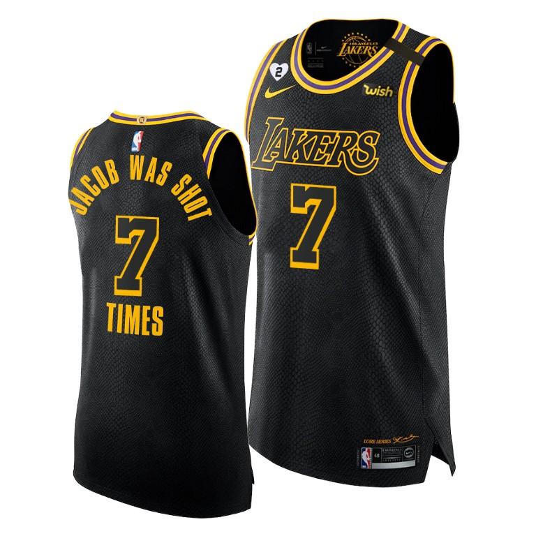 Lakers NBA Boycott Jacob was shot 7 times Custom Mamba Inspired ...