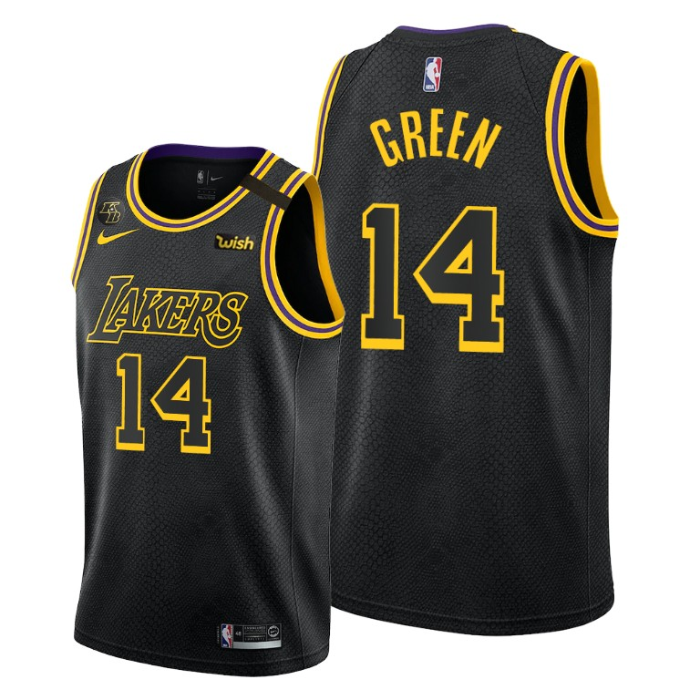 Danny Green Lakers Mamba Inspired City Black Jersey Honors Kobe ...