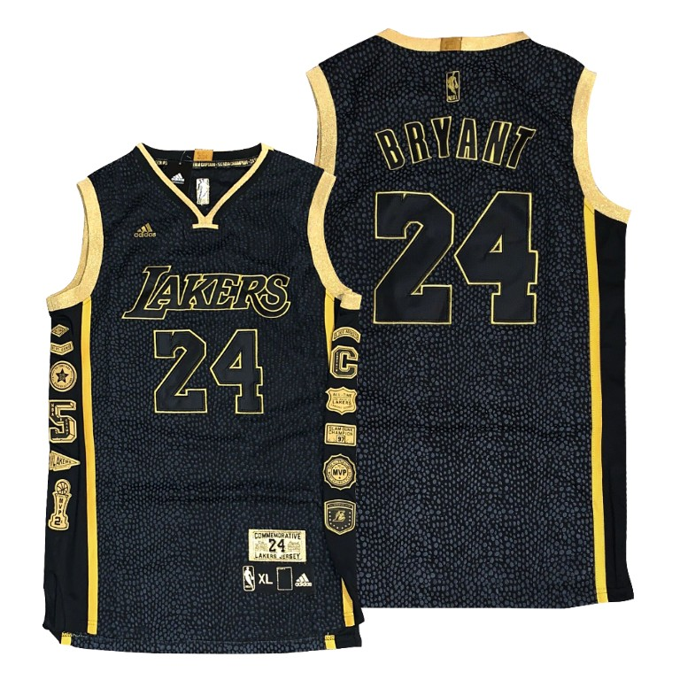 Lakers Kobe Bryant Mamba24 Collection Black Jersey Snakeskin ...