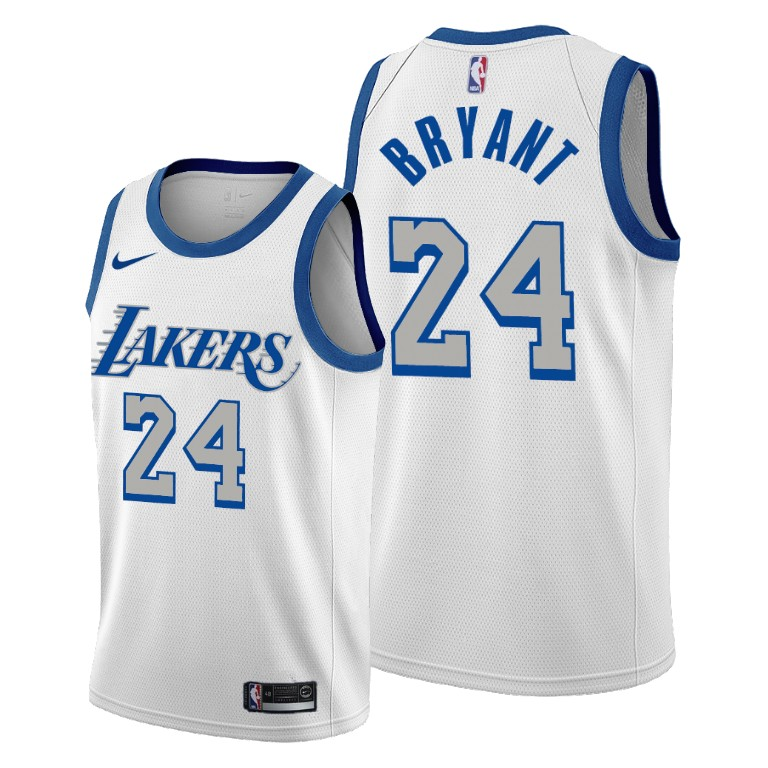 Kobe Bryant Los Angeles Lakers White City Edition New Blue Silver ...
