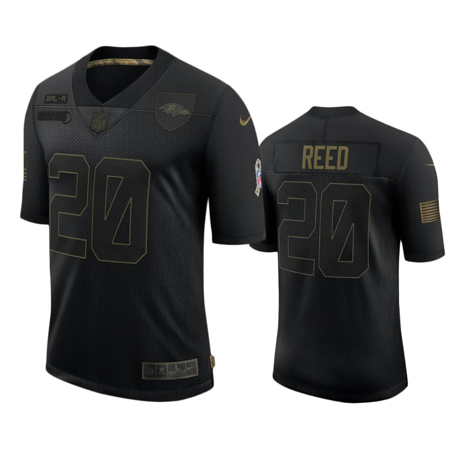 Ravens Ed Reed Limited Jersey Black 2020 Salute to Service ...