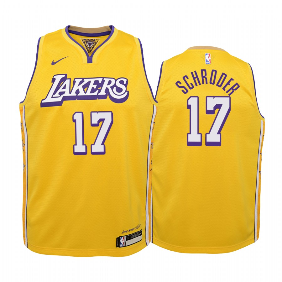 Dennis Schroder Los Angeles Lakers Youth Gold Icon Edition Jersey ...