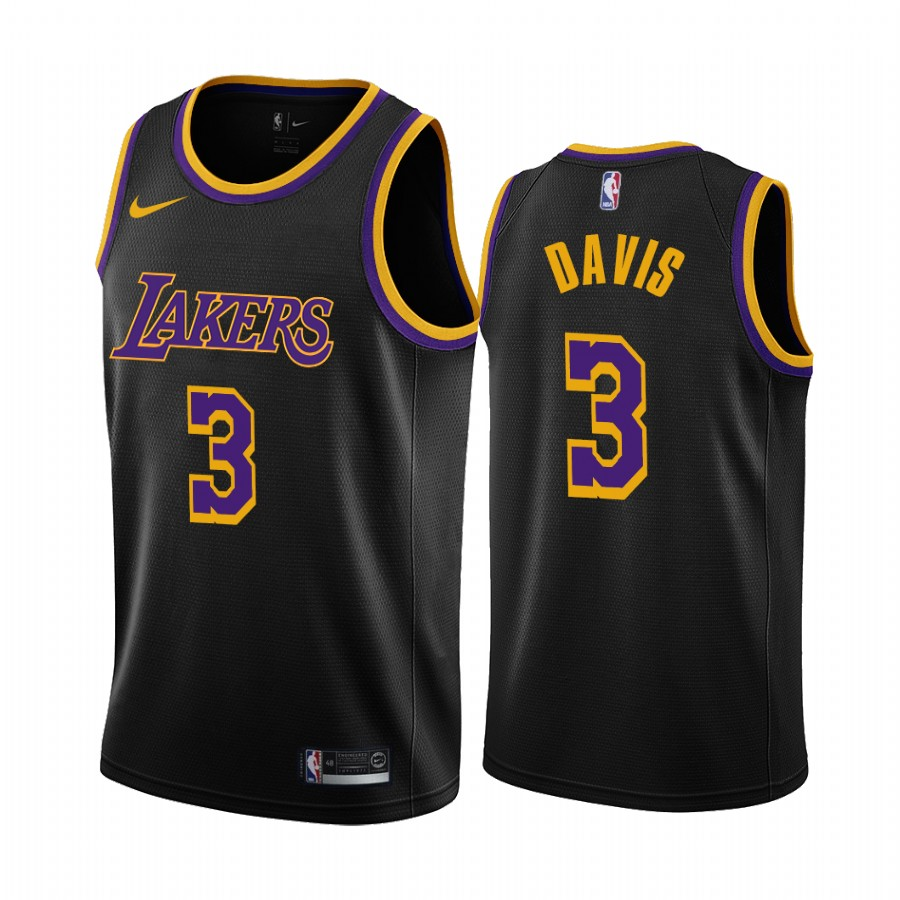2020-21 Los Angeles Lakers Anthony Davis Earned Edition Black #3 ...