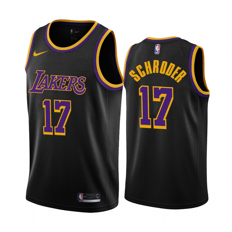 2020-21 Los Angeles Lakers Dennis Schroder Earned Edition Black ...